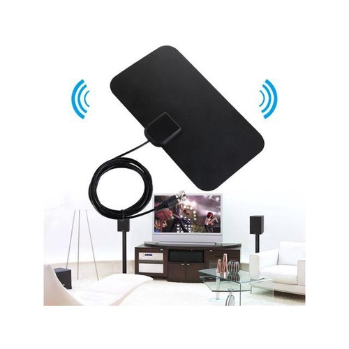 Mini Digital HDTV Indoor Freeview Antenna with TV Aerial Amplifier 50 Mile Range