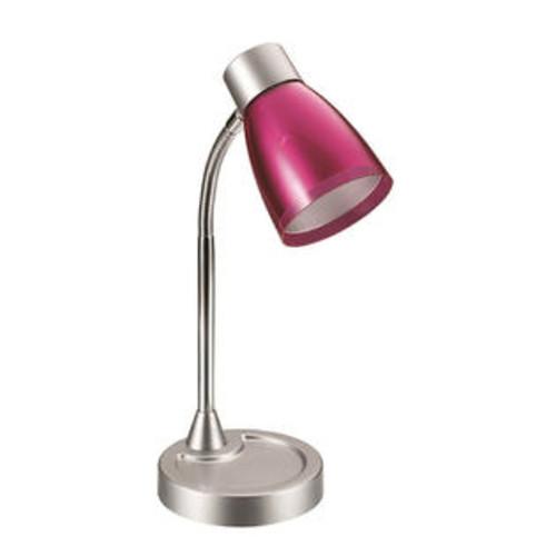 LimeLights Flashy Flexible Gooseneck LED Desk Lamp Metallic Pink
