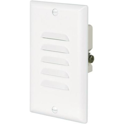 Eaton 15 Amp 120-Volt LED Step Light with Vertical and Horizontal Louvered Wall Plates - White