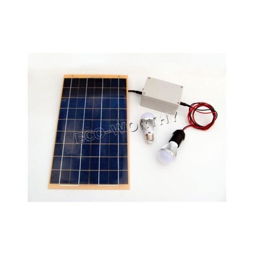10W Off-Grid Solar Lighting System with LED Lights, Solar Panel and Battery solat panel for homes