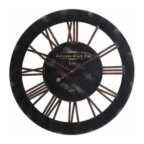 Cooper Classics Elko 26.5 in. Wall Clock