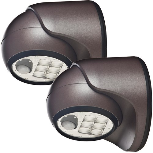 Light It! 6-Light Bronze Motion Activated Outdoor Integrated LED Wireless Area Light (2-pack)