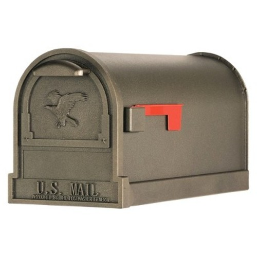 Gibraltar Mailboxes Arlington Large Capacity Galvanized Steel Bronze, Post-Mount Mailbox, AR15T000 [Bronze]