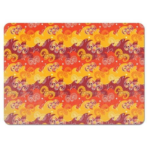 Born in Aries Sign Placemats (Set of 4) - Born In Aries Sign Placemat