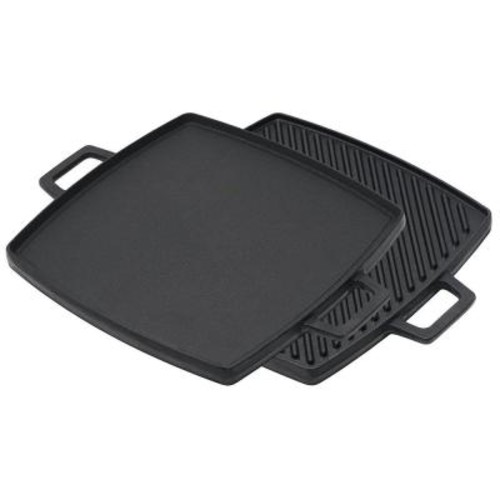 Bayou Classic 10.5 in. x 10.5 in. Cast Iron Reversible Griddle