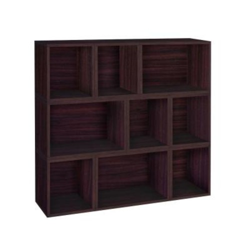 Way Basics Oxford Eco zBoard Tool Free Assembly Espresso Stackable Modular Open Bookcase