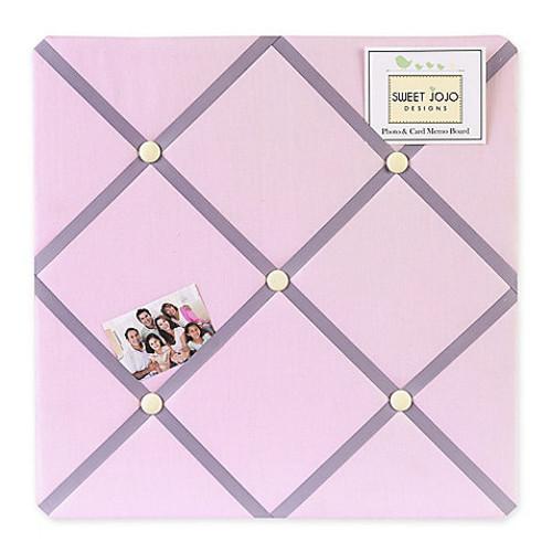 Sweet Jojo Designs Butterfly Fabric Memo Board in Pink/Purple