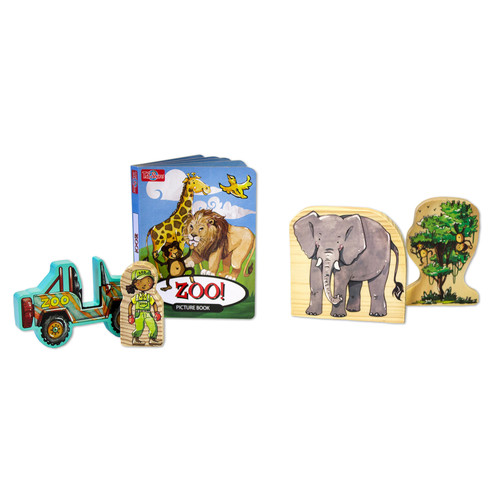 TS Shure ArchiQuest 35 Piece Zoo Wooden Blocks