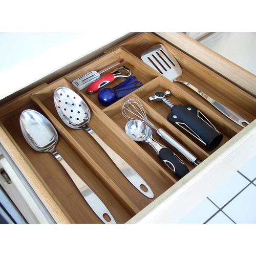 Axis Bamboo Expandable Utensil Organizer
