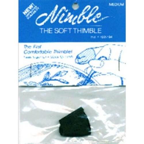 Leather Nimble Thimble With Metal Tip, Medium