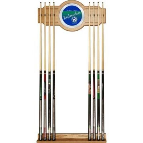 Trademark Minnesota Timberwolves NBA Hardwood Classics 30 in. Wooden Billiard Cue Rack with Mirror