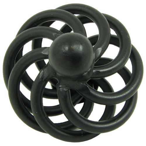 Stone Mill Hardware Matte Black Coventry Cabinet Knobs (Pack of 5)
