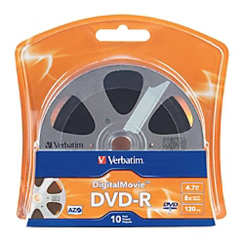 Verbatim Digital Movie DVD-R Bulk Box, 4.7GB/120 Minutes, Pack Of 10