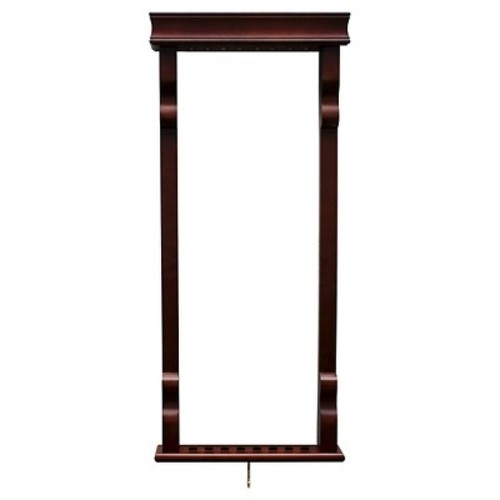 Hathaway Vintage Wall Billiard Pool Cue Rack - Rich Mahogany Finish