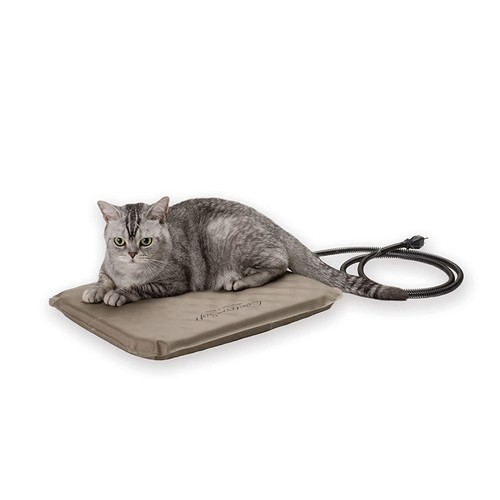 K&H Pet Products Lectro-Soft Outdoor Heated Bed with FREE Cover - MET Safety Listed [Frustration-Free Packaging, Small (14