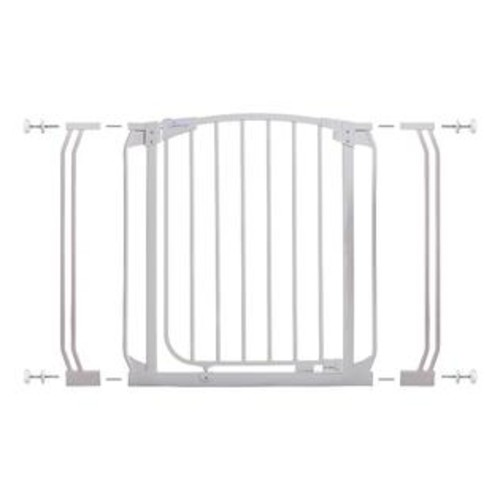 Dreambaby Chelsea 28 - 39 inch Auto Close Gate with Extensions - White