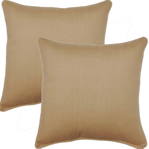 Husk Texture Birch 17-inch Corded Throw Pillows (Set of 2)