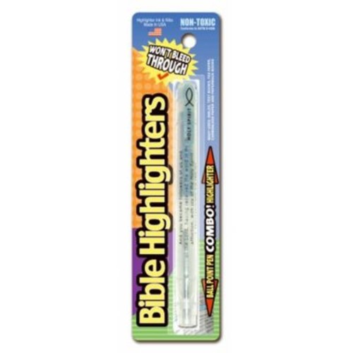 Divinity Boutique 96386 Highlighter Ball Point Pen, Single Pack - Blue (ANCRD83834)