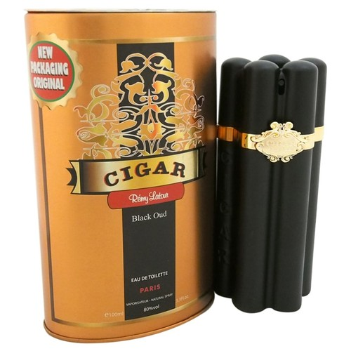 Remy Latour Cigar Black Oud Eau de Toilette Spray for Men, 3.3 fl oz