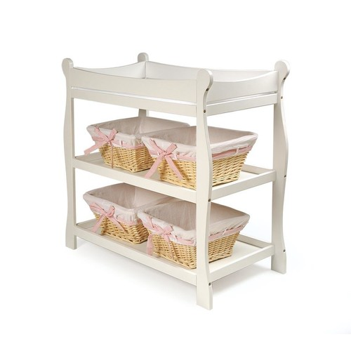 Badger Basket Sleigh Style Changing Table Gray