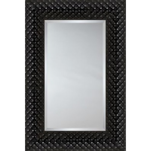 Mirror Image Home Mirror Style 81180 - Black Quilted Cushion; 48.75 x 68.75