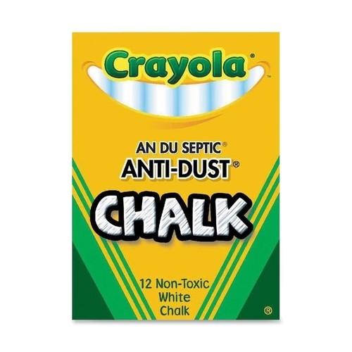 Crayola(R) Anti-Dust Chalk, (White) Box Of 12 Sticks