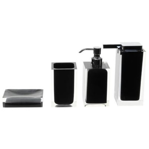 Gedy by Nameeks Rainbow 4-Piece Bathroom Accessory Set; Black