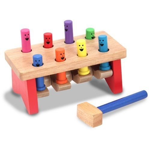 Melissa & Doug Deluxe Pounding Bench Wooden Toy With Mallet [Pounding Bench]