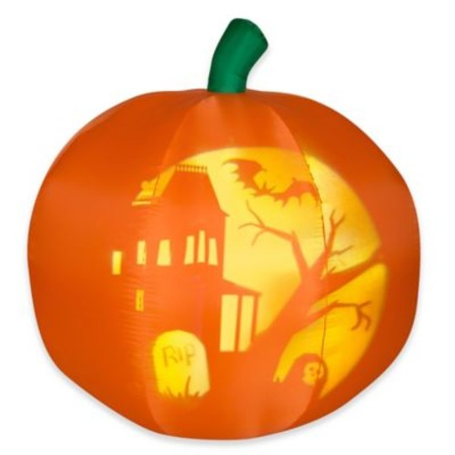 National Tree Company 5-Foot Inflatable Panoramic Projection Pumpkin