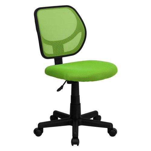 Flash Furniture Mid-Back Green Mesh Swivel Task Chair [Green]