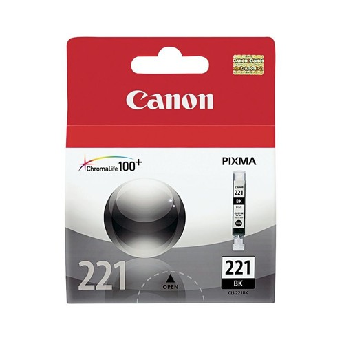 Canon CLI-221BK ChromaLife 100+ Black Ink Tank (2946B001)