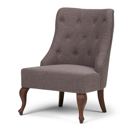 Simpli Home Aston Fawn Brown Fabric Accent Chair