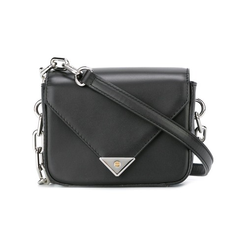 ALEXANDER WANG Mini Leather Prisma Crossbody Bag, Black