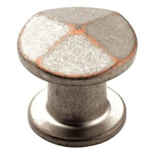 Amerock 1-3/16 in. Weathered Nickel Copper Cabinet Knob
