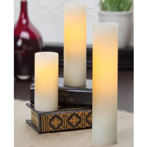 Inglow 3-pc. Flameless Slim LED Pillar Candle Set