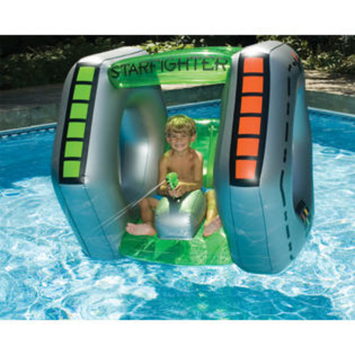 Swimline Starfighter Inflatable Spaceship with Built-in Water Pistol for Swimming Pool