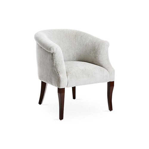 Selby Club Chair, Gray Chenille