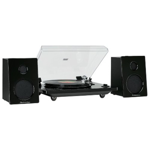 Studebaker Bluetooth Turntable with Magnetic Cartridge, MP3 encoding and Separate Speakers - Black (SB6077)