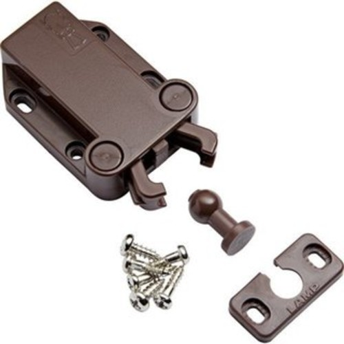 Sugatsune LAMP Brown Plastic Non-agnetic Touch/Safe Push Latch (Set of 2)