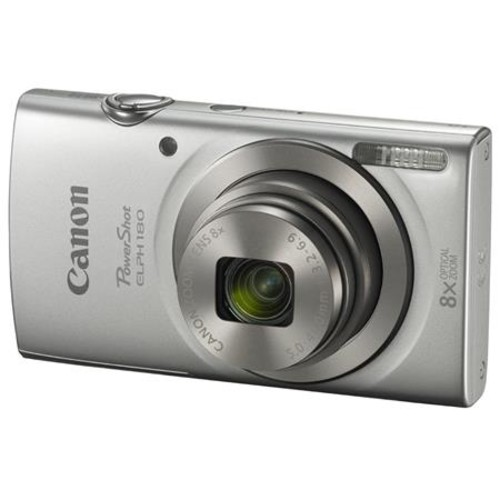 Canon PowerShot ELPH 180 Digital Camera and Free Accessories, Silver 1093C001 A