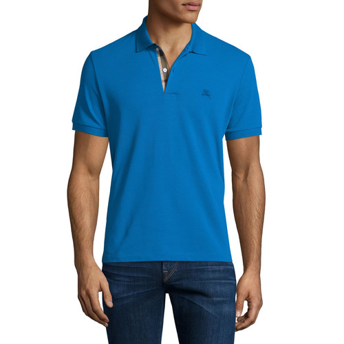 BURBERRY BRIT Core Short-Sleeve Pique Polo Shirt, Bright Opal
