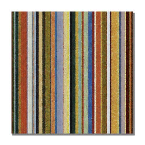 Trademark Global Michelle Calkins 'Comfortable Stripes V' Canvas Art [Overall Dimensions : 18x18]