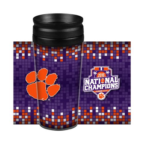 NCAA College Football Playoffs 2016 Championship Travel Tumbler - Clemson Tigers