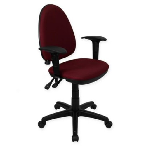 Flash Furniture Mid-Back Fabric Drafting Arm Chair With Adjustable Lumbar Support