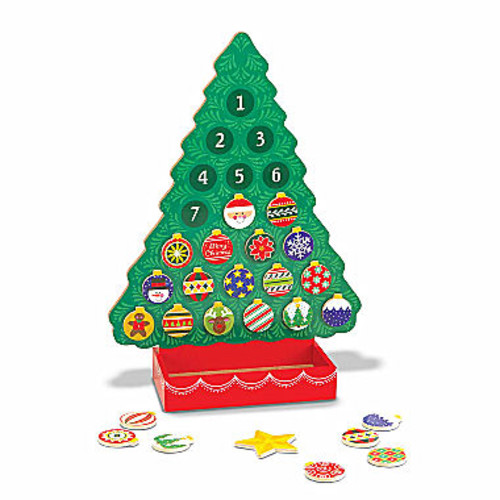 Melissa & Doug Countdown to Christmas Wooden Religious Advent Calendar