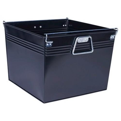 Household Essentials Metal File Box, Black
