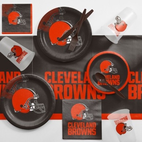 NFL Black And Red Cleveland Browns Game Day Party Supplies Kit