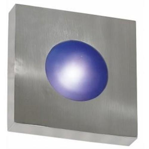 Kenroy Home Burst 1-Light Polished Aluminum Small Square Sconce