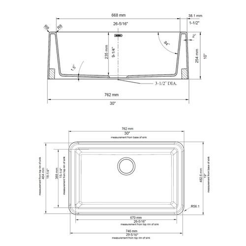 BLANCO Ikon 30-in x 19-in Anthracite (Black) Single-Basin Granite Apron Front/Farmhouse Residential Kitchen Sink