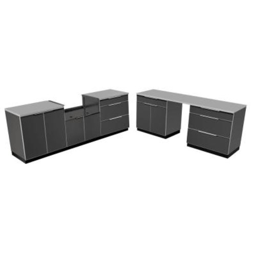 Age Products Aluminum Slate 9-Piece 184x36x24 in. Outdoor Kitchen Cabinet Set